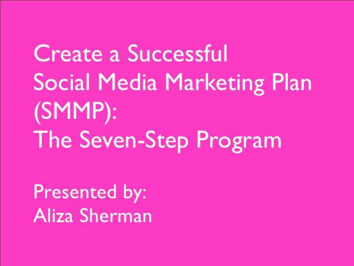 Social Media Marketing Proposal Pdf Fresh 7 Steps to A social Media Marketing Plan the Pdf