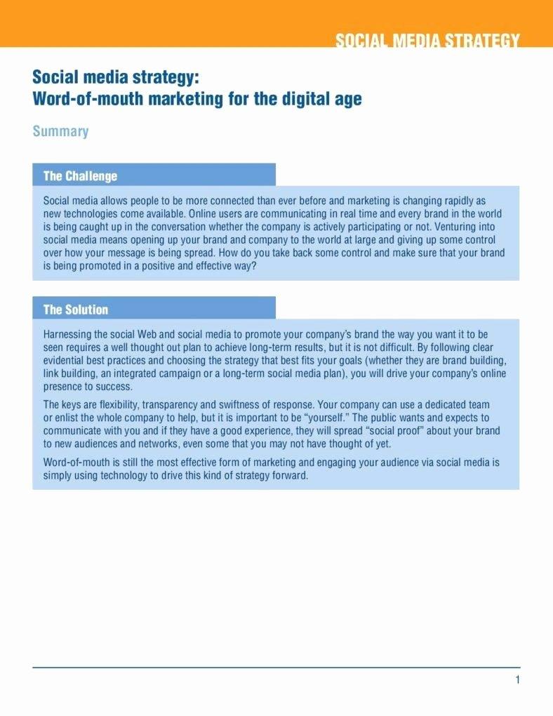 Social Media Marketing Proposal Pdf Lovely 7 Digital Marketing Templates