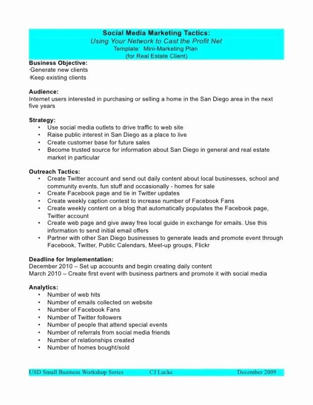 Social Media Marketing Proposal Pdf Unique social Media Proposal Template