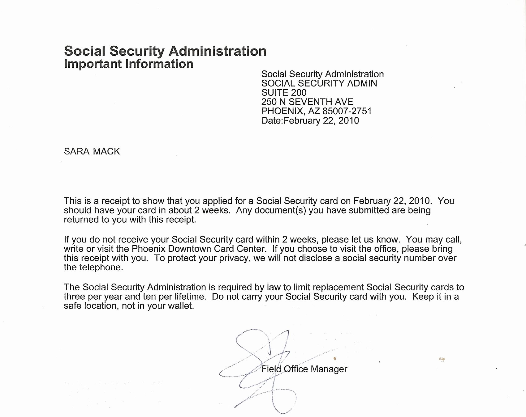 Social Security Award Letter Example Fresh What's In A Name