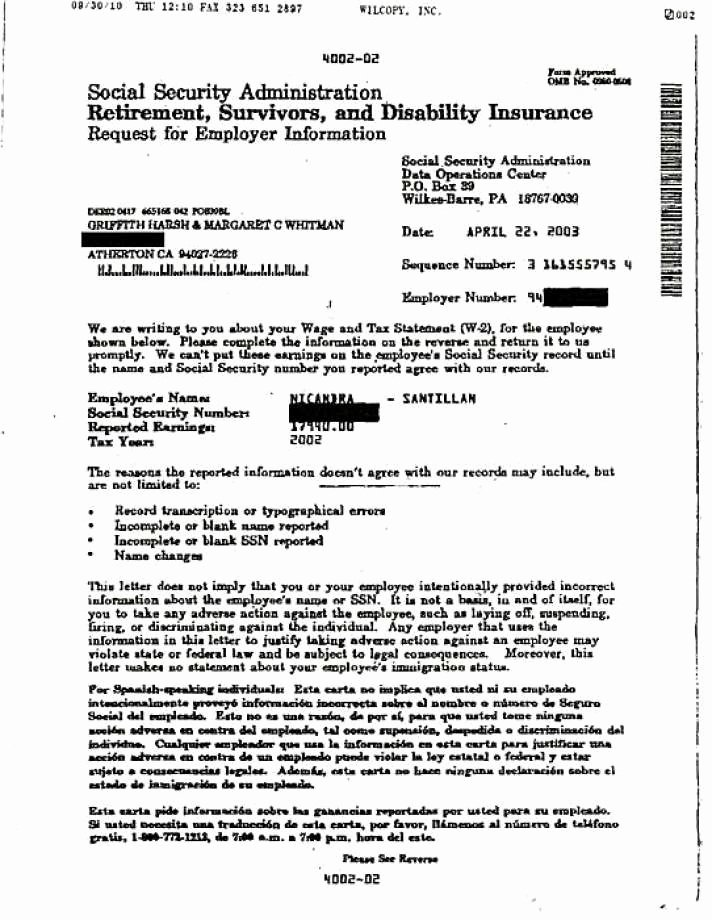 Social Security Award Letter Example Inspirational Document Shows Meg Whitman Lying attorney Says Sfgate