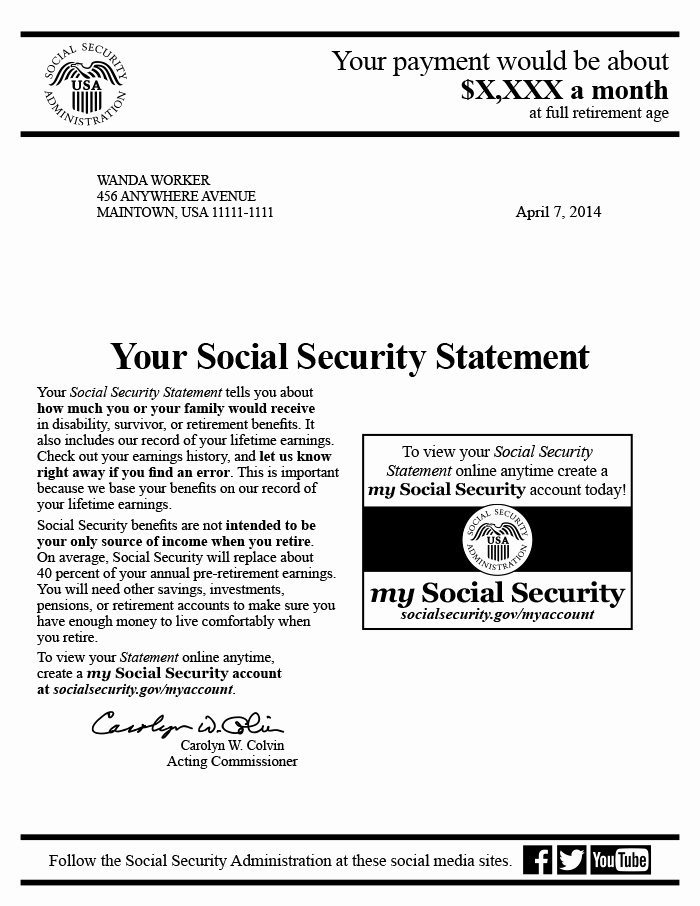Social Security Award Letter Example Lovely the social Security Statement Background Implementation