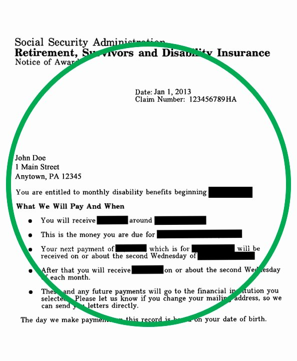 Social Security Award Letter Example New Usgs Store