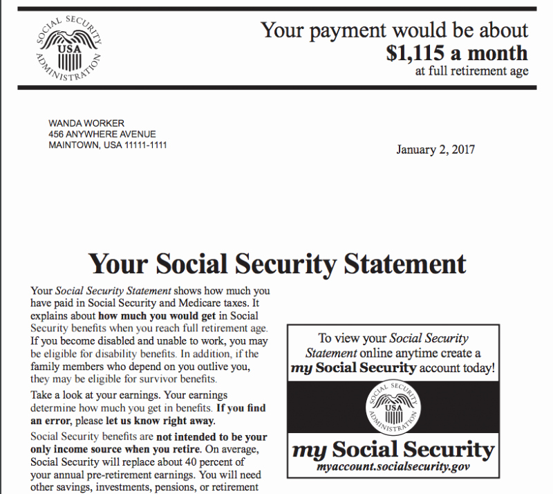 Social Security Award Letter Example Unique How to Estimate Your social Security Benefit — Magnifymoney
