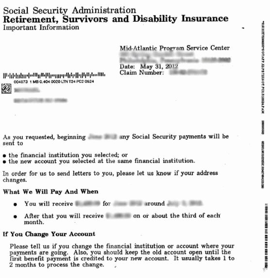 Social Security Award Letter Example Unique Ssi Benefit Letter 2018