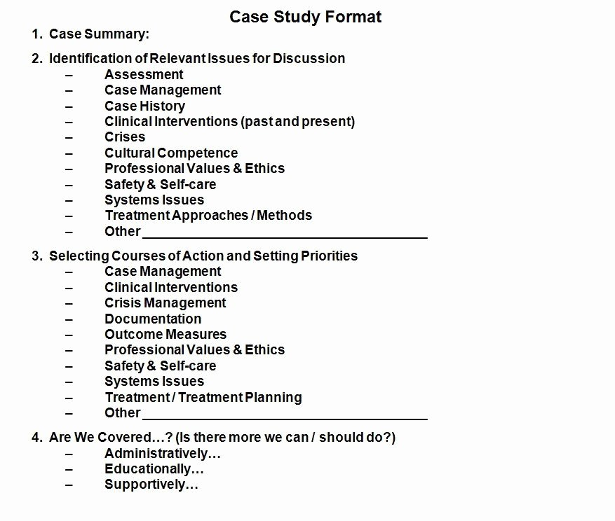 Social Work Case Notes Template Beautiful This Case Study format is A Panion Document to Tracking