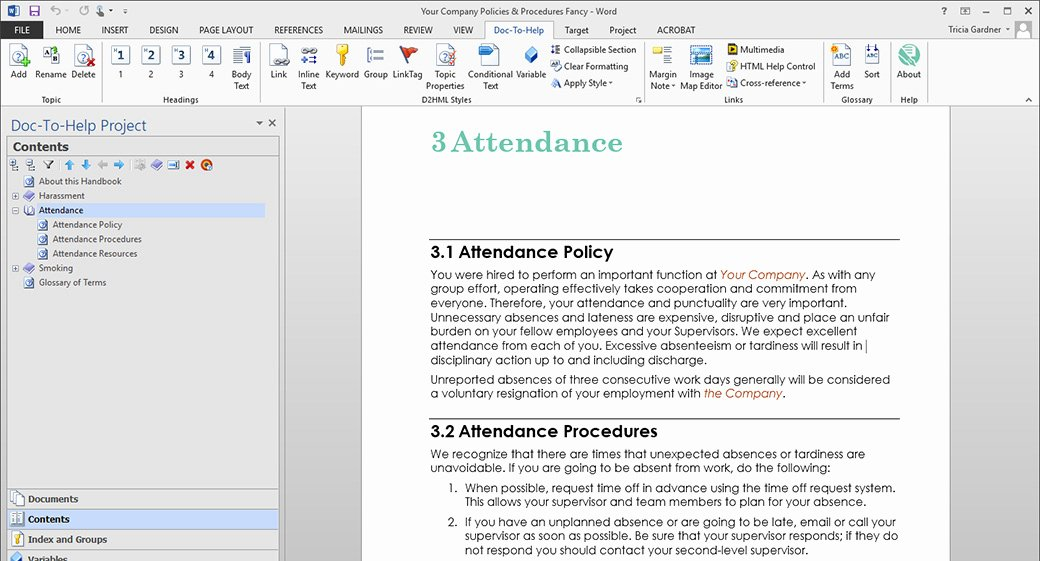 Software Documentation Sample Lovely Create Policies & Procedures Documents Line Help and
