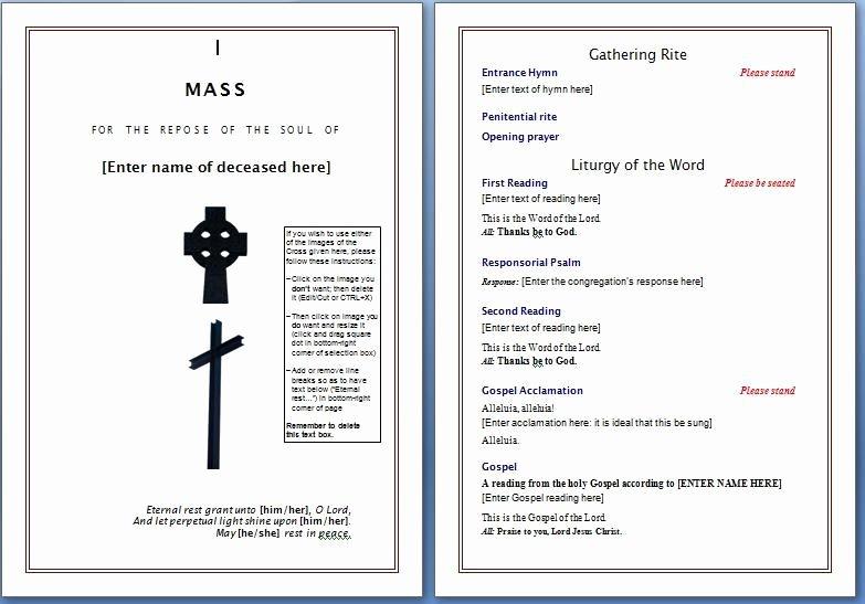 Souvenir Booklet Template Microsoft Word Lovely Church souvenir Booklet Template