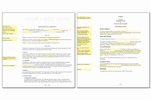 Sow Template Doc New Obie Fernandez Master Service Agreement Msa and