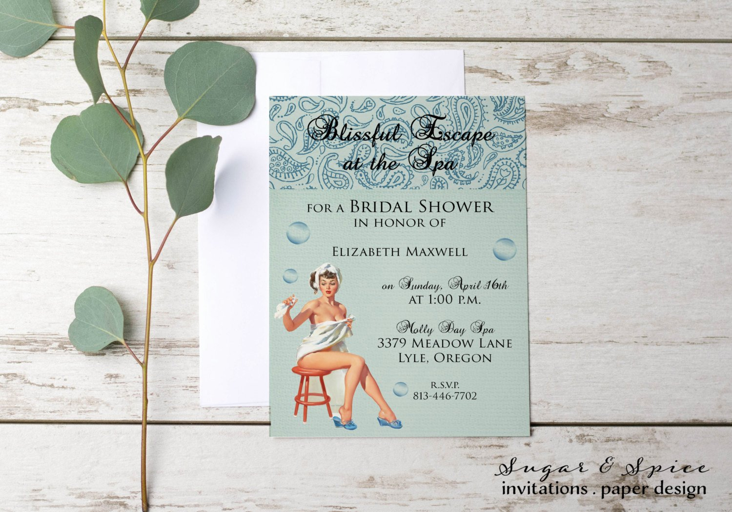 Spa Day Invitation Best Of Bridal Shower Invitation Spa Day Invitation Girls Day Out