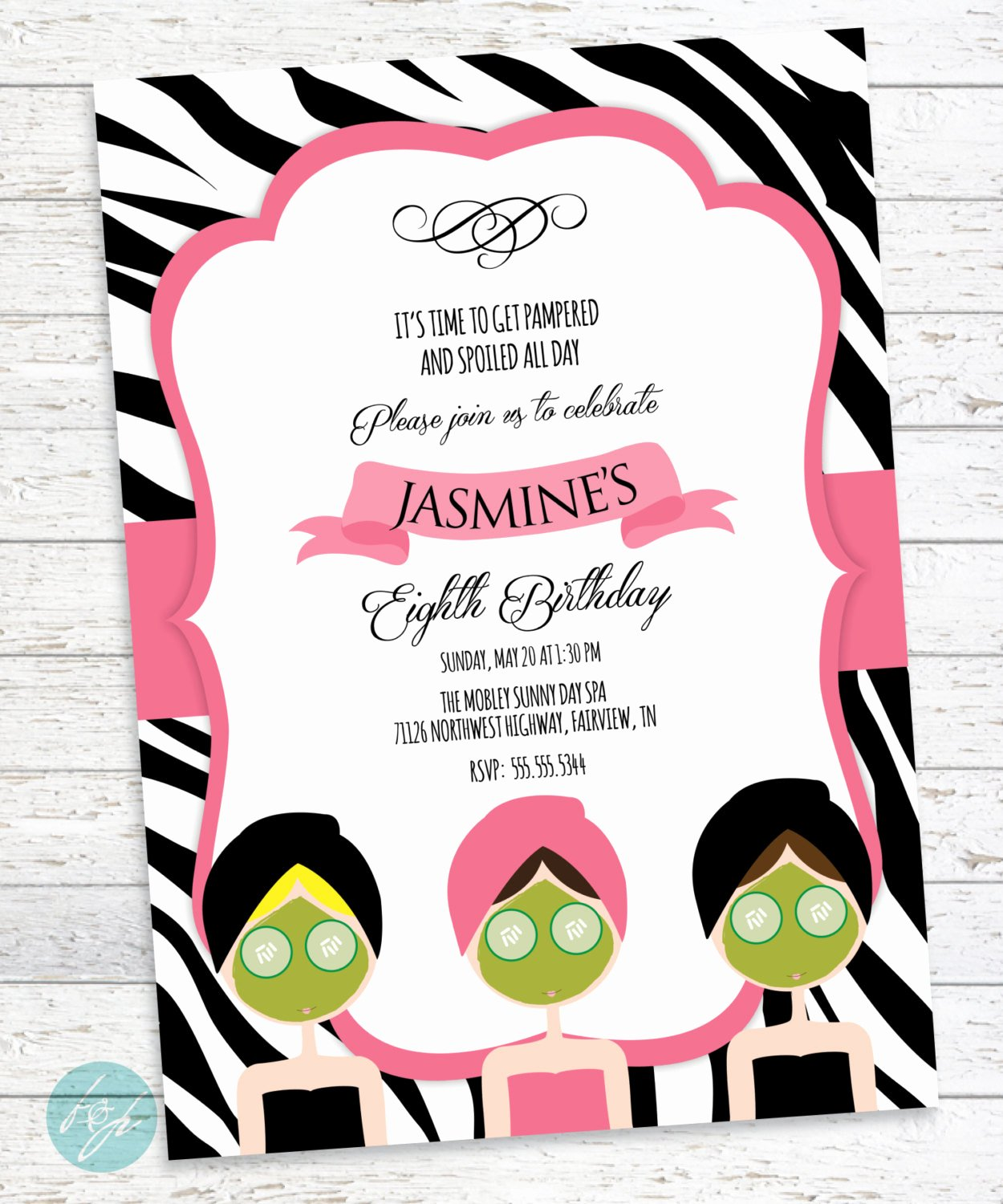 Spa Day Invitation Best Of Spa Birthday Invitation Spa Day Spa Party by Flairandpaper