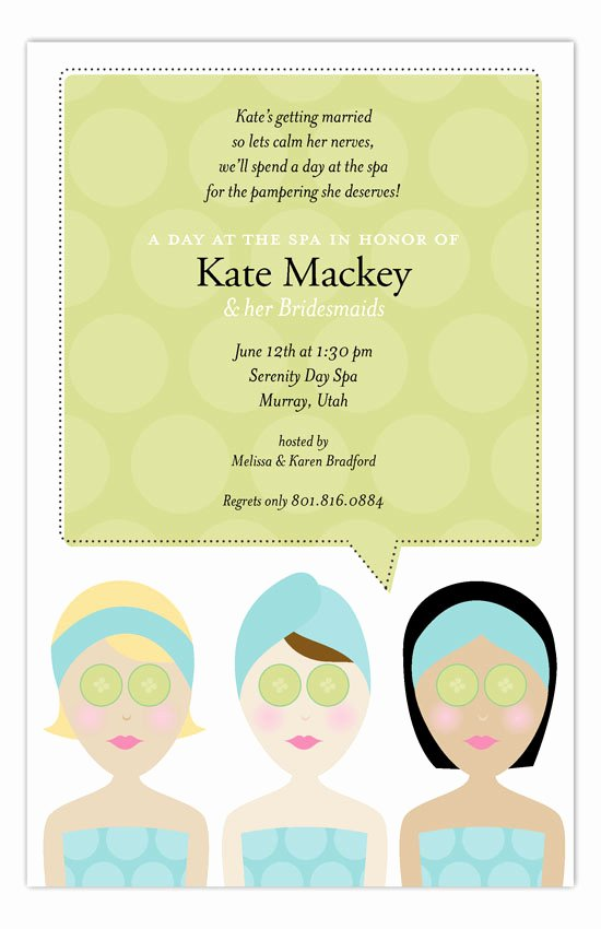 Spa Day Invitation Fresh Spa Day Invitation