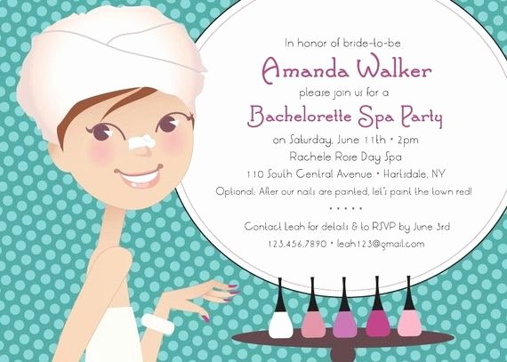 "Spa Day Invitation Inspirational ""spa Day"" Bridal Shower Bachelorette Party Invitation by"