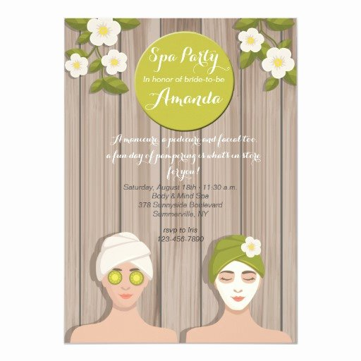 Spa Day Invitation Lovely Spa Day Invitation