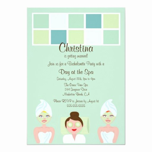 Spa Day Invitation Luxury Spa Day Bachelorette Party Invitation