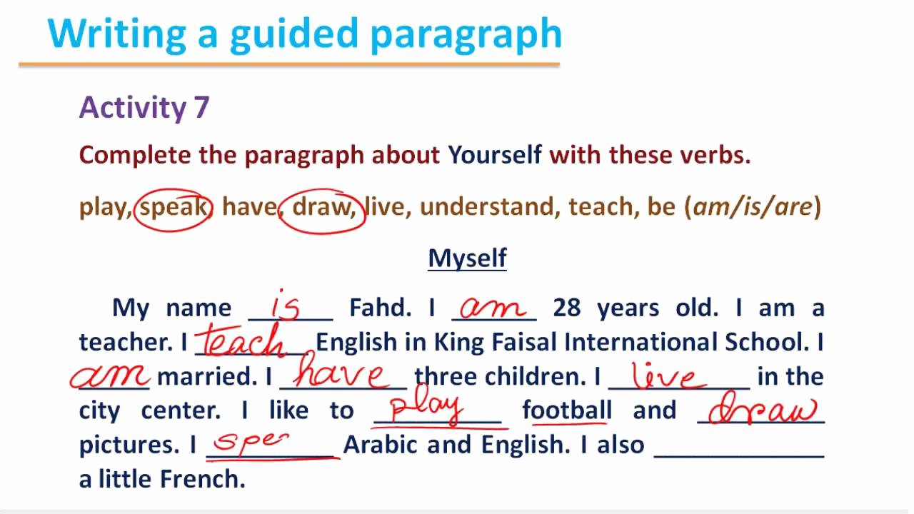 Spanish Essay About Yourself New Writing 112 B1 U2 Introducing Yourself 4
