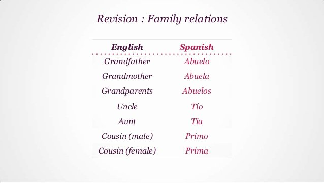 Spanish Essays About Family New Essay About Family In Spanish