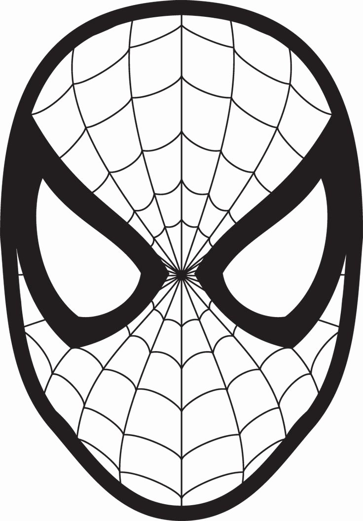 Spiderman Web Template Awesome Spiderman Face Logo Spiderman Mask Clipart Wall