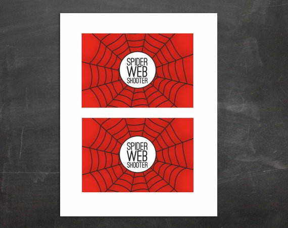 Spiderman Web Template Best Of Spider Web Shooter Silly String Label Pdf