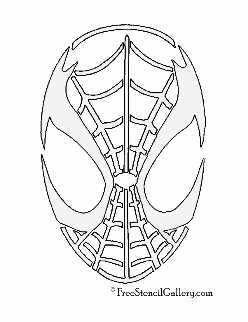 Spiderman Web Template Fresh Spiderman Mask Stencil