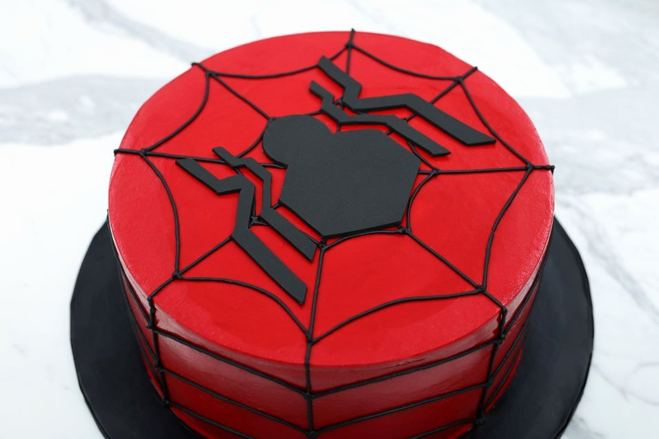 Spiderman Web Template Lovely Spiderman Cake Sweet Dough Cake Recipe