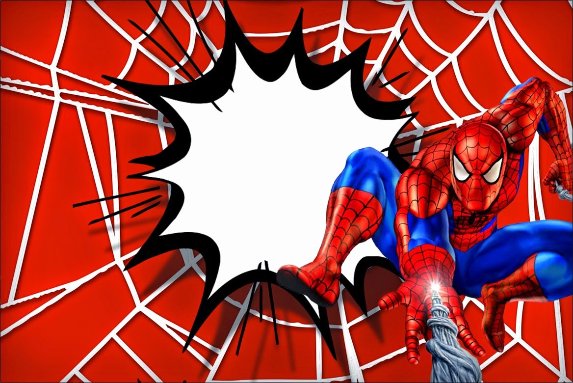 Spiderman Web Template Lovely Spiderman Clipart Invited Pencil and In Color Spiderman