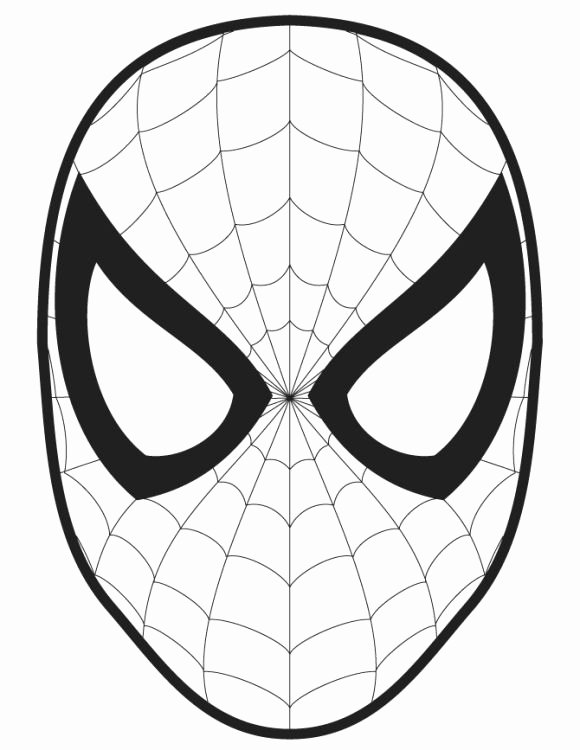 Spiderman Web Template Lovely Spiderman Logo Coloring Pages Halloween