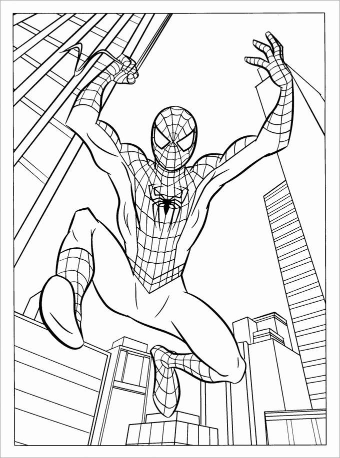 Spiderman Web Template Unique 30 Spiderman Colouring Pages Printable Colouring Pages