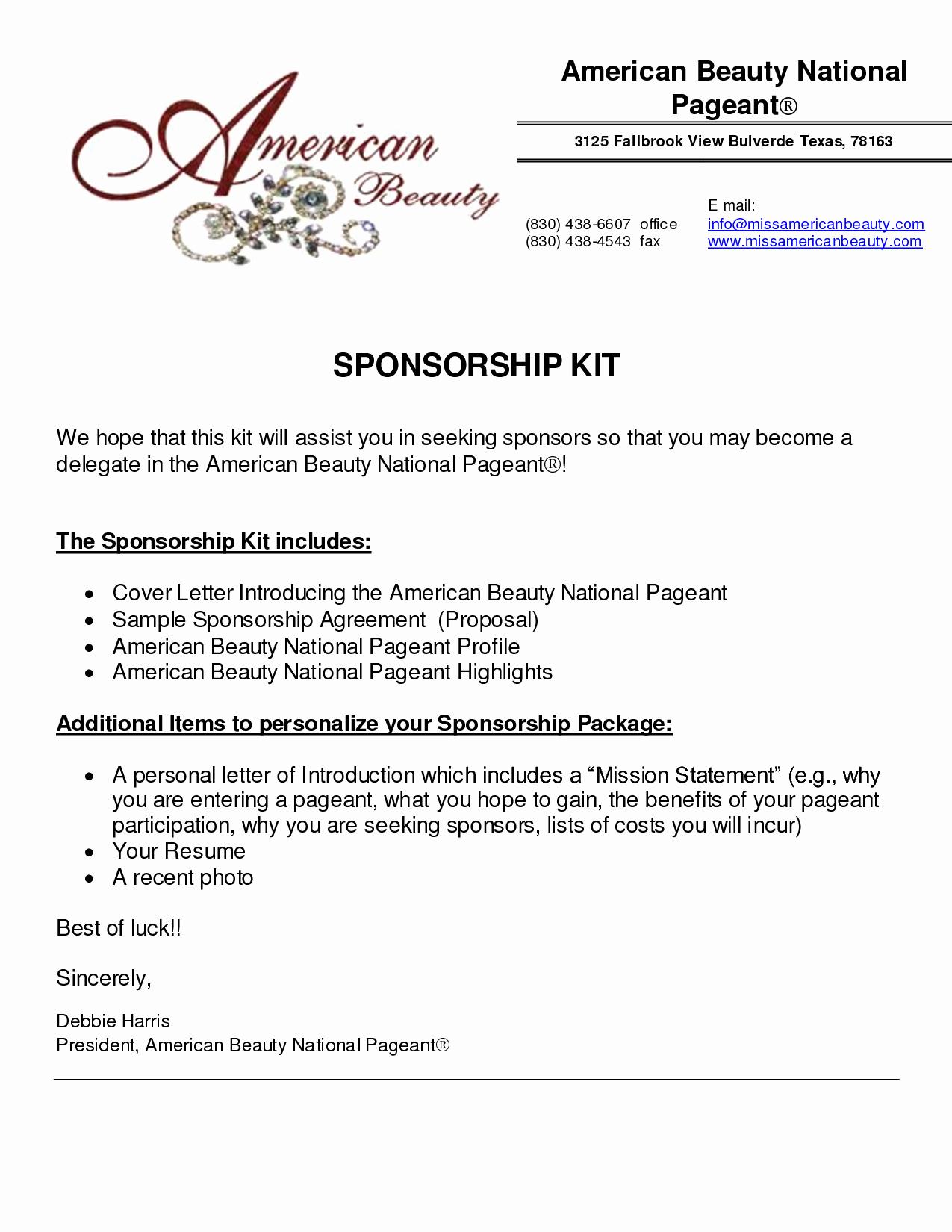 Sponsorship Package Template Free Fresh 6 Sponsorship Proposal Templates Excel Pdf formats