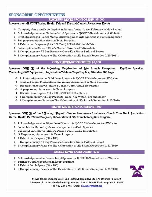 Sponsorship Package Template Free Luxury Sponsorship Package Template