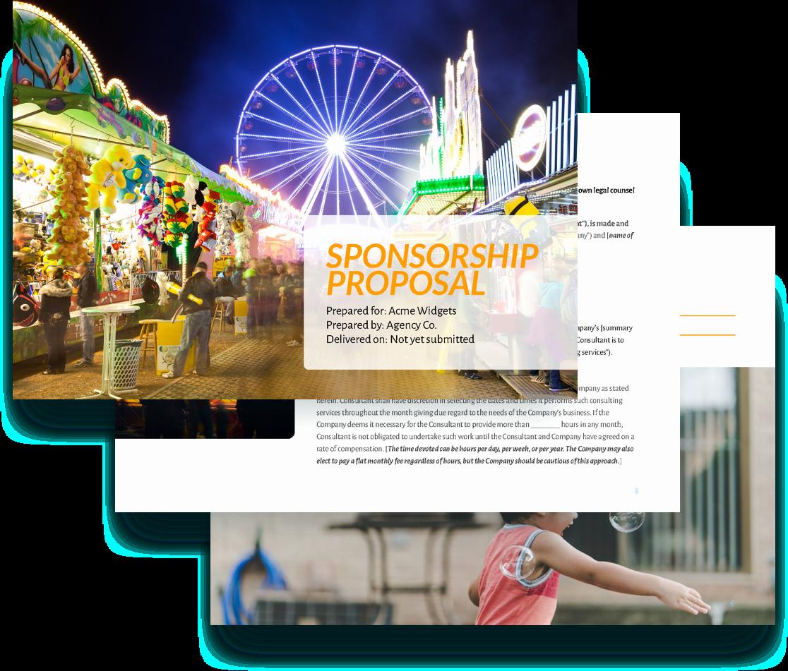 Sponsorship Package Template Free Luxury Sponsorship Proposal Template Free Sample