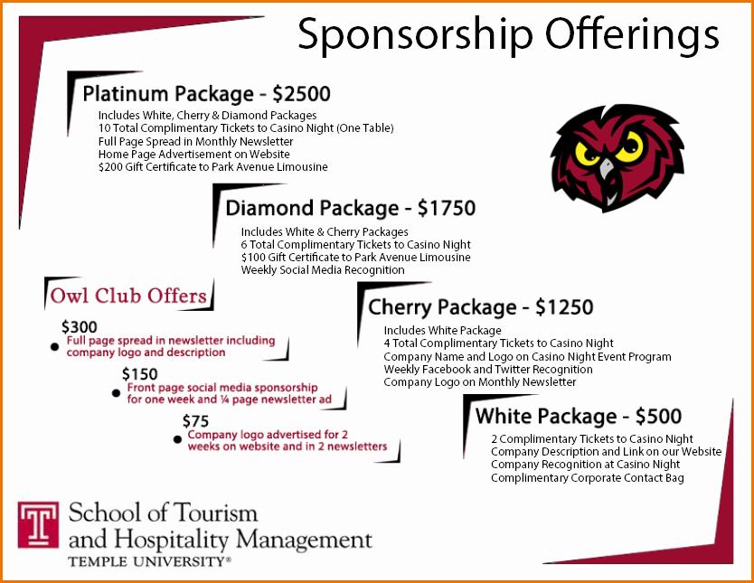 Sponsorship Packet Template Beautiful Sponsor Package Template