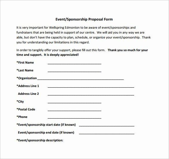 Sponsorship Packet Template Best Of Sponsorship Proposal Template 21 Free Word Excel Pdf