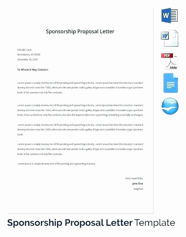 Sponsorship Packet Template Lovely Sponsorship Package Template – Bunnycampfo
