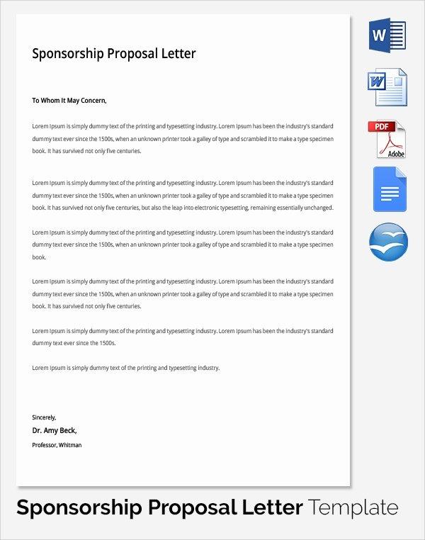 Sponsorship Packet Template Luxury 19 Sample Sponsorship Proposal Templates