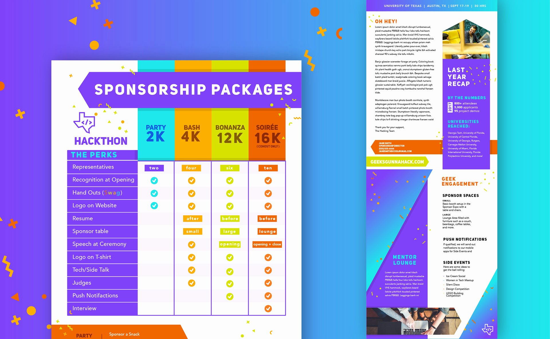 Sponsorship Packet Template New Carly Berry Illustrator Graphic Designer Sponsorship