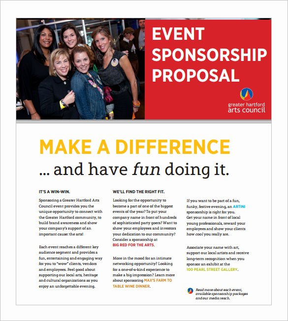 Sponsorship Packet Template New event Proposal Template 21 Free Word Pdf format