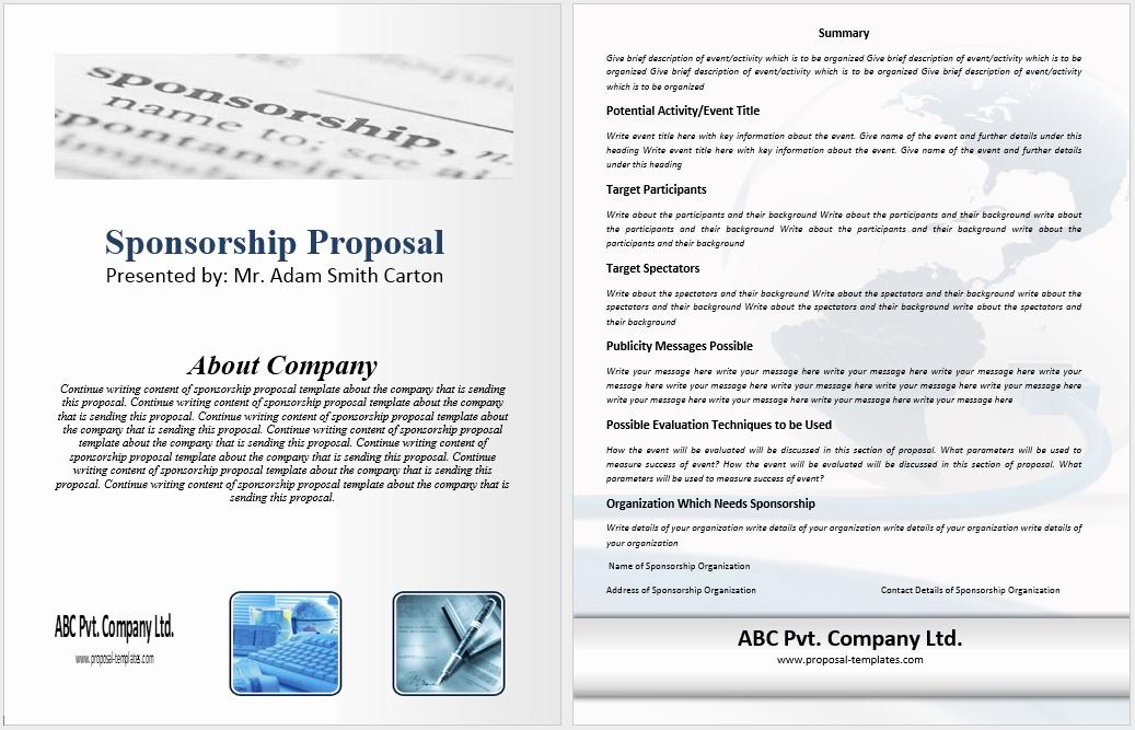 Sponsorship Packet Template Unique 10 Free Sponsorship Proposal Templates Word Templates