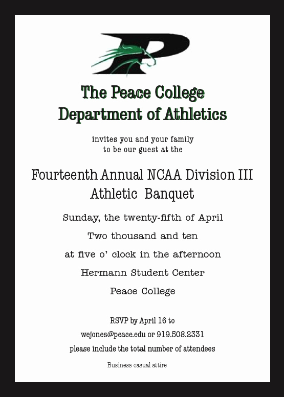 Sports Invitation Template Beautiful Designs by Olivia Griffin athletic Banquet Invitation