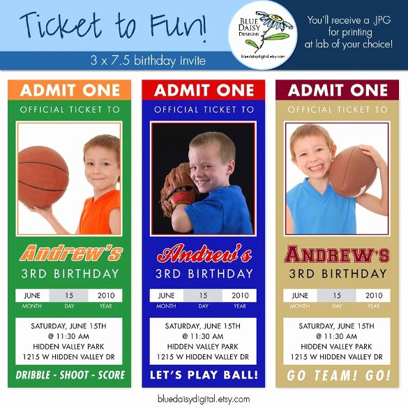 Sports Invitation Template Best Of 47 Ticket Invitation Templates Psd Ai Word Pages
