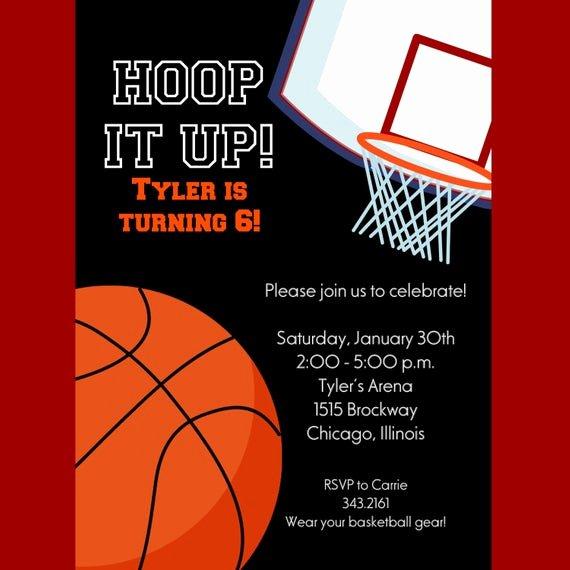 Sports Invitation Template Fresh Basketball Invitation Printable Invitation Kids by