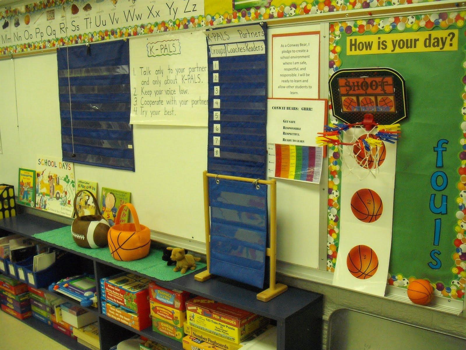 Sports theme Classroom Awesome Teaching Kindergarten Kiddos Classroom