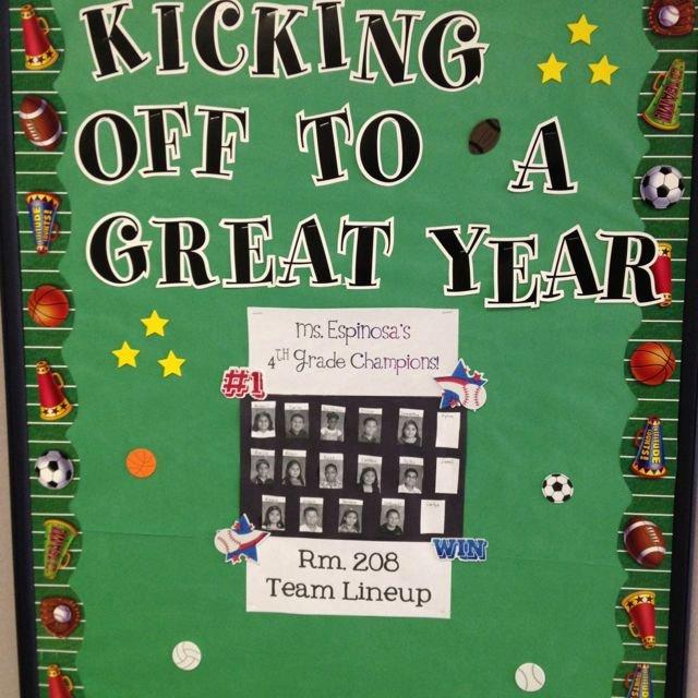 Sports theme Classroom Beautiful Sports theme Class Bulletin Board Add Teach Pictures On
