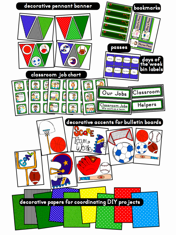 Sports theme Classroom Best Of Clutter Free Classroom Sports themed Classrooms