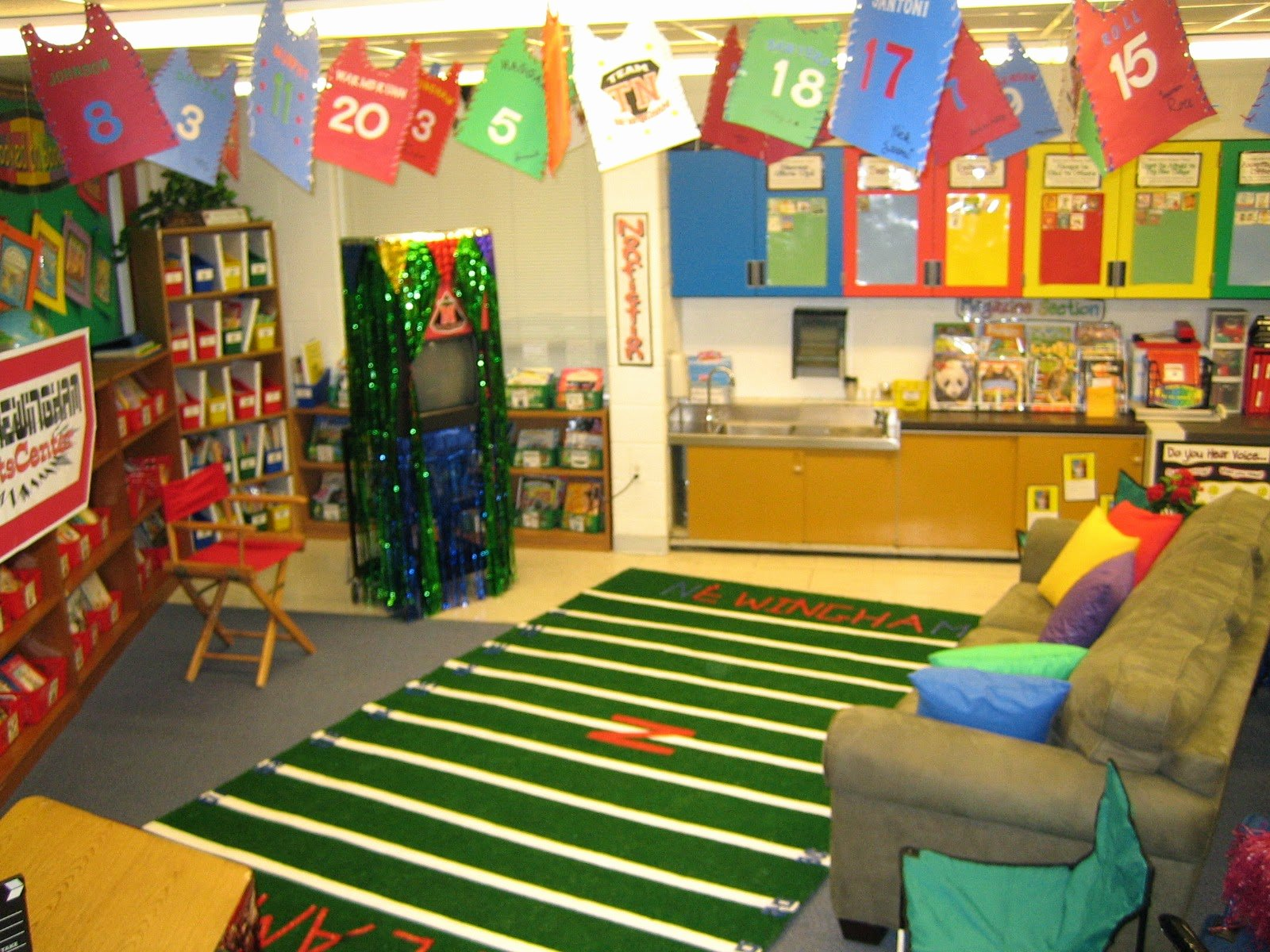Sports theme Classroom Best Of Sports themed Classrooms Clutter Free Classroom