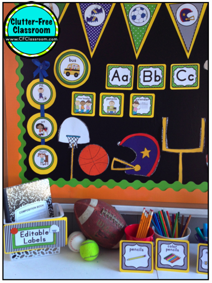 Sports theme Classroom New Sports themed Classrooms Clutter Free Classroom