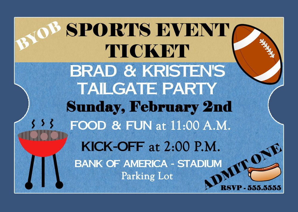 Sports Ticket Invitation Awesome Unavailable Listing On Etsy