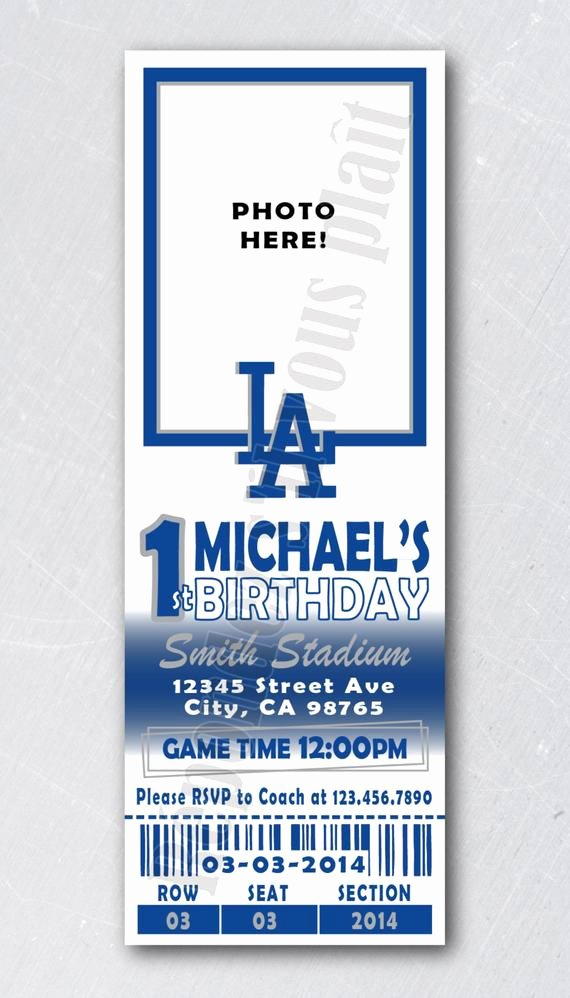 Sports Ticket Invitation Beautiful Sports Ticket Invitation Any Team