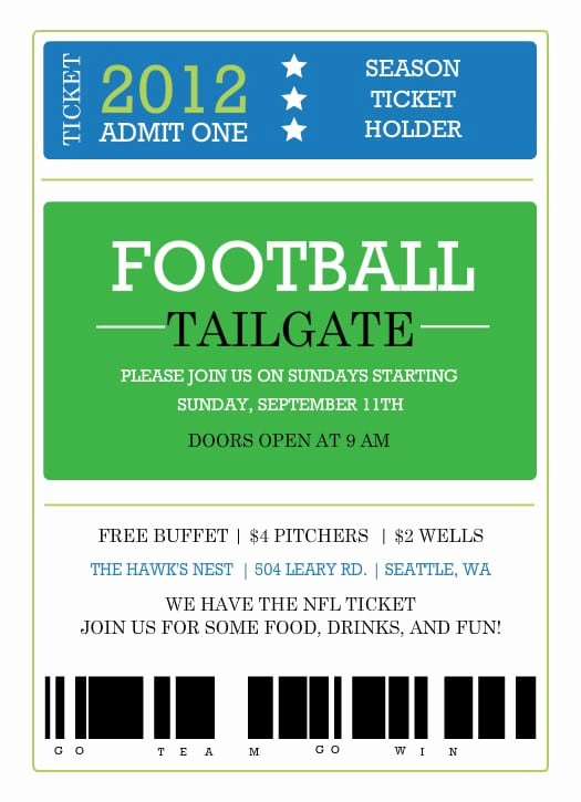 Sports Ticket Invitation Template Free Inspirational Printable Ticket Invitation Template
