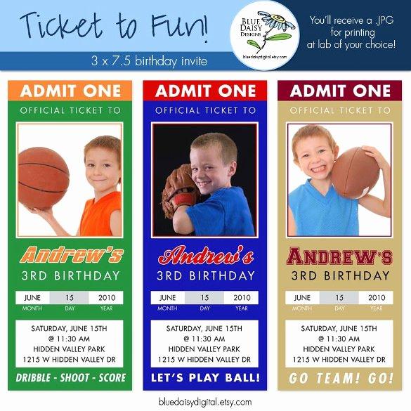 Sports Ticket Invitation Template Free Unique 47 Ticket Invitation Templates Psd Ai Word Pages